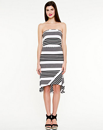 Stripe Jersey High-low Dress