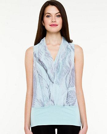 Knit V-Neck Sleeveless Top
