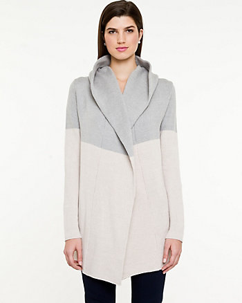 Cotton Blend Hooded Sweater