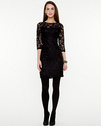 Lace Scoop Back Cocktail Dress