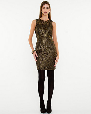 Lace Illusion Shift Dress