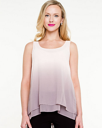 Chiffon Ombré Sleeveless Blouse