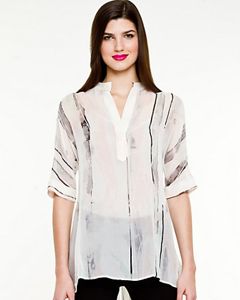 Silk High-low Hem Tunic