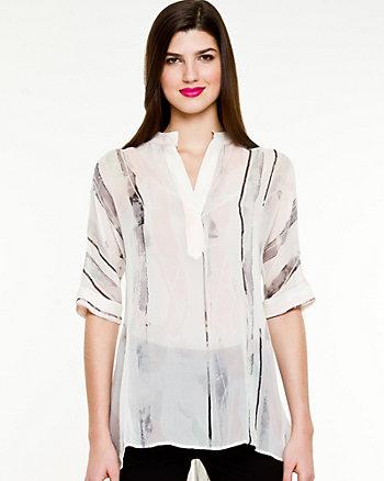Silk High-Low Hem Tunic