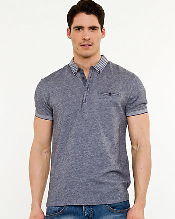 Knit & Woven Semi-fitted Polo