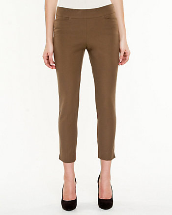 Cotton Gabardine Slim Leg Pant