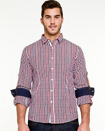 Cotton Check Slim Fit Shirt