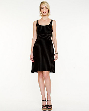 Jersey Stripe Scoop Neck Dress