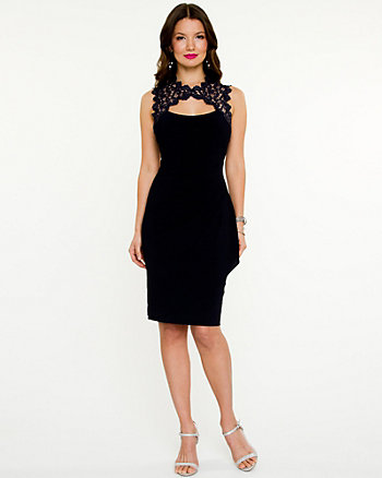 Lace Illusion Sleeveless Dress