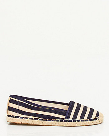 Stripe Canvas Espadrille