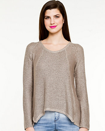 Textured Knit Scoop Neck Sweater