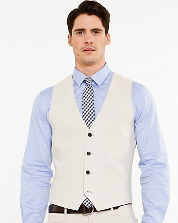 Linen Blend City Fit Vest
