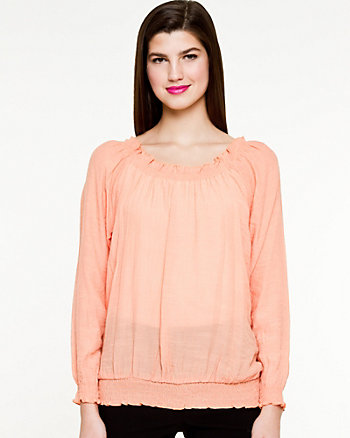 Ghost Gauze Peasant Blouse
