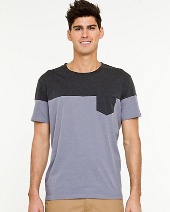 Cotton Blend Semi-Fitted T-shirt