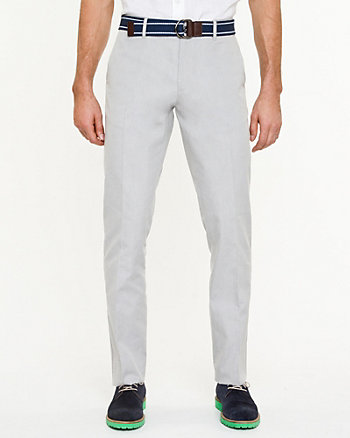 Tonal Cotton Blend Slim Fit Pant