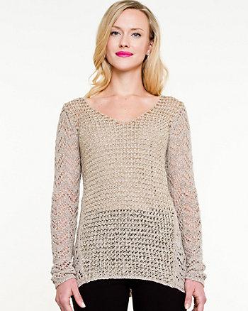 Sequin V-Neck Sweater
