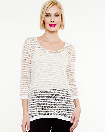 Metallic Relaxed Sweater