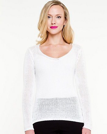 V-neck Fitted Sweater