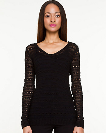 Relaxed Open Weave Sweater