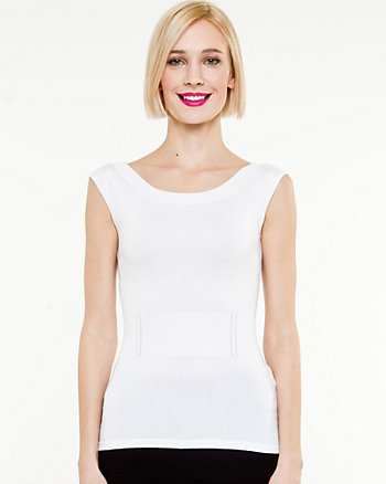 Sleeveless Boat Neck  Sweater