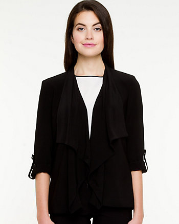 Open-front 3/4 Sleeve Throwover