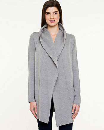 Cotton Blend Sweater Coat