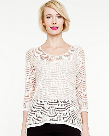 Open Stitch Relaxed Sweater