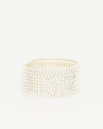 Gemstone Coil Bracelet