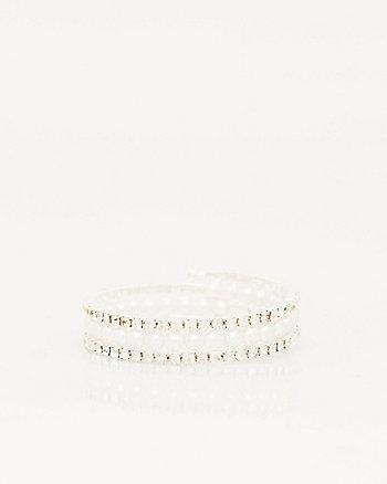 Pearl-like Coil Bracelet
