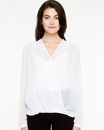 Chiffon Cross Front Blouse