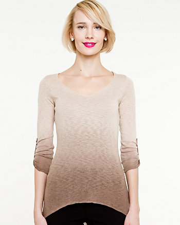 Ombré Knit Fitted Top