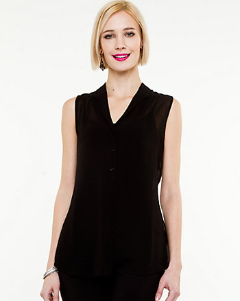 Chiffon Sleeveless Blouse