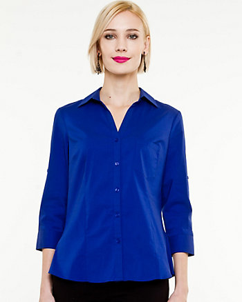 Stretch Poplin Blouse