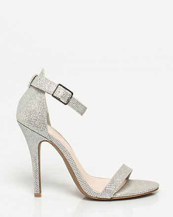 Glitter Ankle Strap Pump