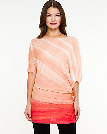 Ombré Off-the-Shoulder Tunic