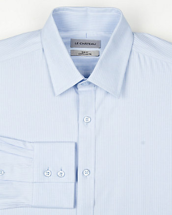 Cotton Stripe Slim Fit Shirt