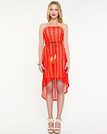 Crochet High-Low Dress