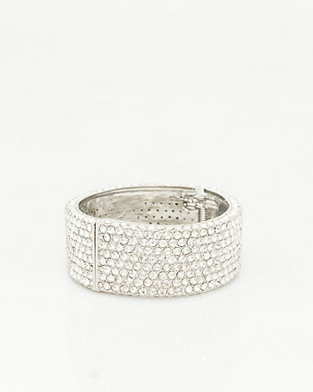 Jewel Encrusted Hinge Bangle