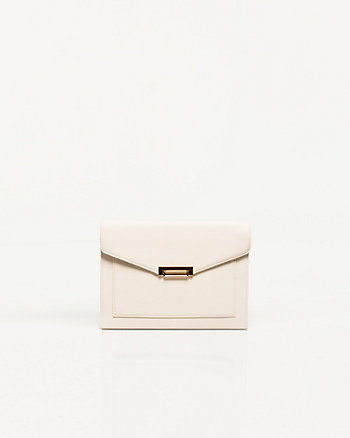 Leather-like Envelope Clutch