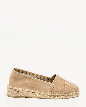 Spanish-made Studded Suede Espadrille