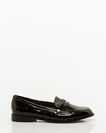 Patent Almond Toe Loafers