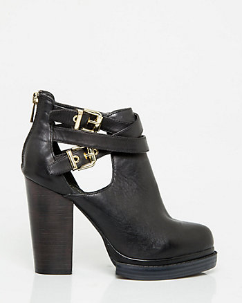 Leather Platform Shooties