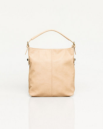 Leather-like Hobo Bag
