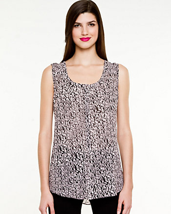 Chiffon Printed Sleeveless Blouse