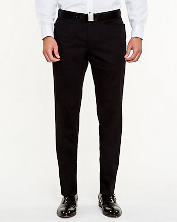 Cotton Sateen Straight Leg Pant