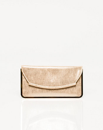 Metallic Foldover Clutch