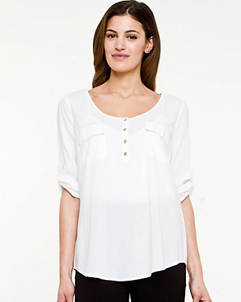 Challis Scoop Neck Top