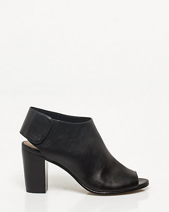 Leather-like Slingback Shootie