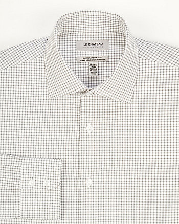 Check Print Cotton Euro Fit Shirt