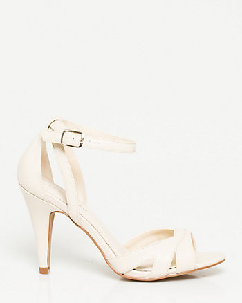 Leather-Like Two-Piece Sandal